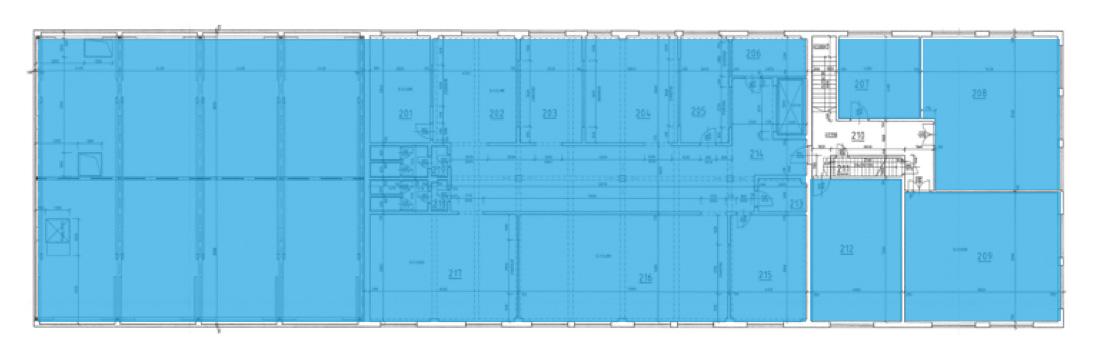 Výrobně skladový komplex 2. NP